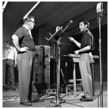 Ben Alexander with Jack Webb at Dragnet Radio Broadcast 1953