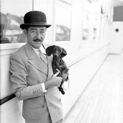 Adolphe Menjou and Friend 1932