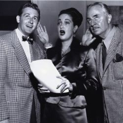 William Powell (R) with Alan Young and Dorothy Lamour