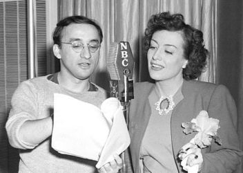 Arch Oboler and Joan Crawford