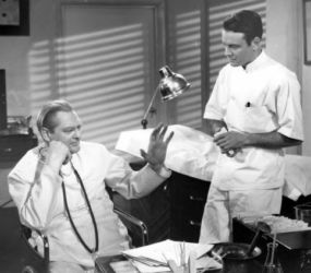 Lew Ayres and Lionel Barrymore in Dr. Kildare