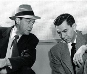 Barton Yarborough with Jack Webb in Dragnet