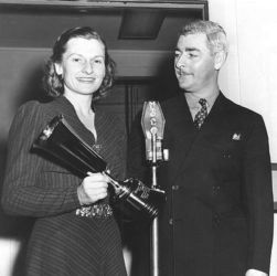 Marjorie Anderson with Bill Johnstone (The Shadow)