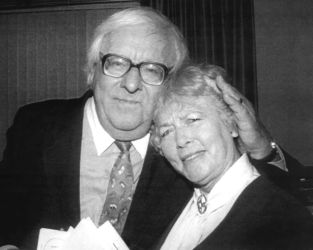 Peggy Webber with Ray Bradbury