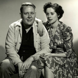 Charles Laughton and wife, Elsa Lanchester