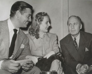 Clark Gable, Carole Lombard and Jack Benny