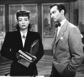 Joan Crawford and Zachary Scott in Mildred Pierce