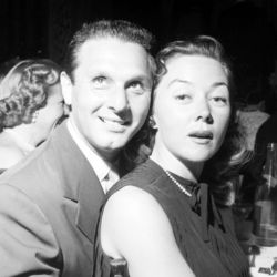 Cy Howard with actress Gloria Grahame.