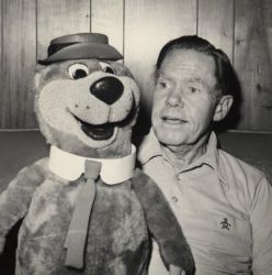 Daws Butler with Yogi Bear 1980.