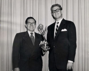 Stan Freberg (R) with Daws Butler
