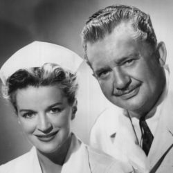 Jean Hersholt and Rosemary DeCamp in Dr. Christian