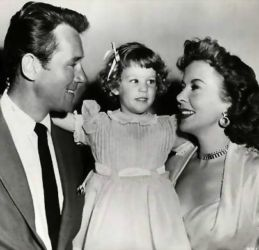 Howard Duff with wife Ida Lupino and daughter Bridget