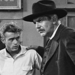 Raymond Massey (R) with James Dean (in East Of Eden 1955)