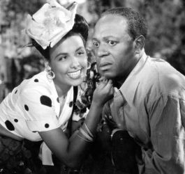 """Eddie """"Rochester"""" Anderson with Lena Horne"""