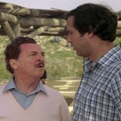 Eddie Bracken as Roy Walley with Chevy Chase (Vacation 1983)