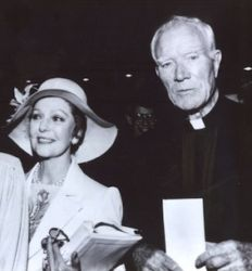 Father Patrick Peyton (Family Theater) with Loretta Young