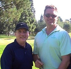 Bart Taylor (L) with actor John Schneider Wilshire Country Club