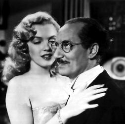 Groucho Marx with Marilyn Monroe 1950s