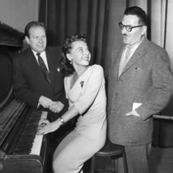 Georgia Ellis with Parley Baer (L) and Howard McNear