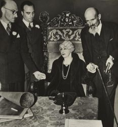 Harry Houdini Final Seance Oct. 31st, 1936 (with widow Bess Houdini).