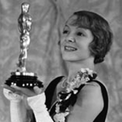 Helen Hayes holding her first Oscar for The Sin of Madelon Claudet circa 1932