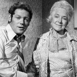 Helen Hayes with her son, James McArthur