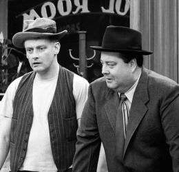 Art Carney with Jackie Gleason (The Honeymooners)