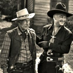 Andy Clyde (as California) with William Boyd (Hopalong Cassidy)