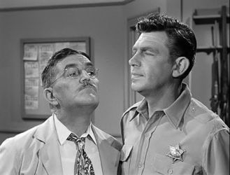 Howard McNear and Andy Griffith