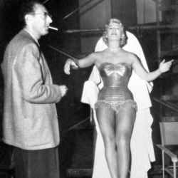 Writer/Director Irving Brecher with Betty Hutton (On The Set Of Somebody Loves Me 1952)