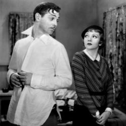 Clark Gable and Claudette Colbert (It Happened One Night 1934)