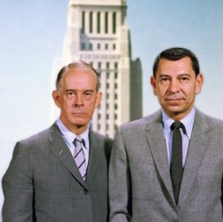 Harry Morgan and Jack Webb (Dragnet 1960s)