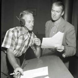 Jimmy Stewart and Jack Johnstone (Director of The Six Shooter)