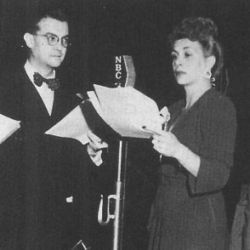 Joseph Kearns with Bea Benaderet