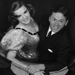 """Mickey Rooney with Judy Garland """"Strike Up the Band"""""""
