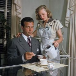 Dick Powell with wife June Allyson