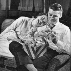 John Larkin and Teal Ames as Mike and Sarah Karr in The Edge Of Night