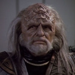 Lawrence Dobkin as Klingon Ambassador Kell in Star Trek 1991