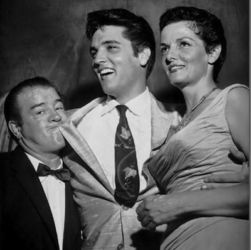 Lou Costello with Elvis and Jane Russell (1957)