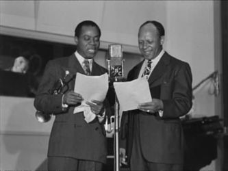 """Louis Armstrong and Eddie """"Rochester"""" Anderson"""
