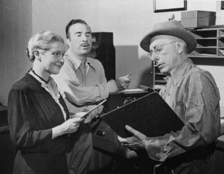 Virginia Payne, Murray Forbes & Charles Eggleston in Ma Perkins