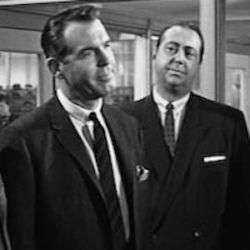 Fred MacMurray and Willard Waterman
