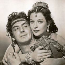 Victor Mature with Hedy Lamarr (Samson and Delilah 1949)