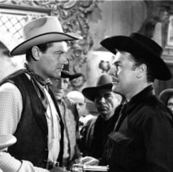 "Joel McCrea (Tales Of Texas Rangers) and Brian Donlevy (Dangerous Assignment) in ""The Virginian"" 1946"