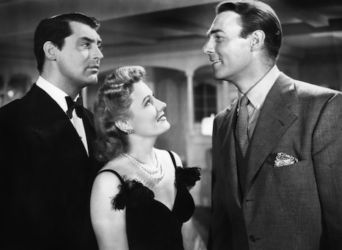 Irene Dunne with Cary Grant and Randolph Scott (My Favorite Wife 1940)