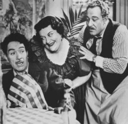 J. Carrol Naish (Luigi) with Jody Gilbert (Rosa) and Alan Reed (Pascuale)