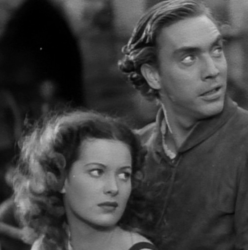 Edmond O'Brian with Maureen O'Hara (1939's The Hunchback Of Notre Dame)