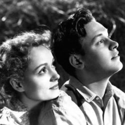 Martha Scott with William Holden (Our Town 1940)