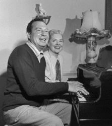 Phil Harris and Alice Faye (at home)