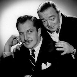 Peter Lorre (R) with pal Vincent Price